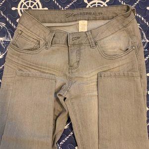🌻Blue Asphalt Grey Skinny Jeans Distressed